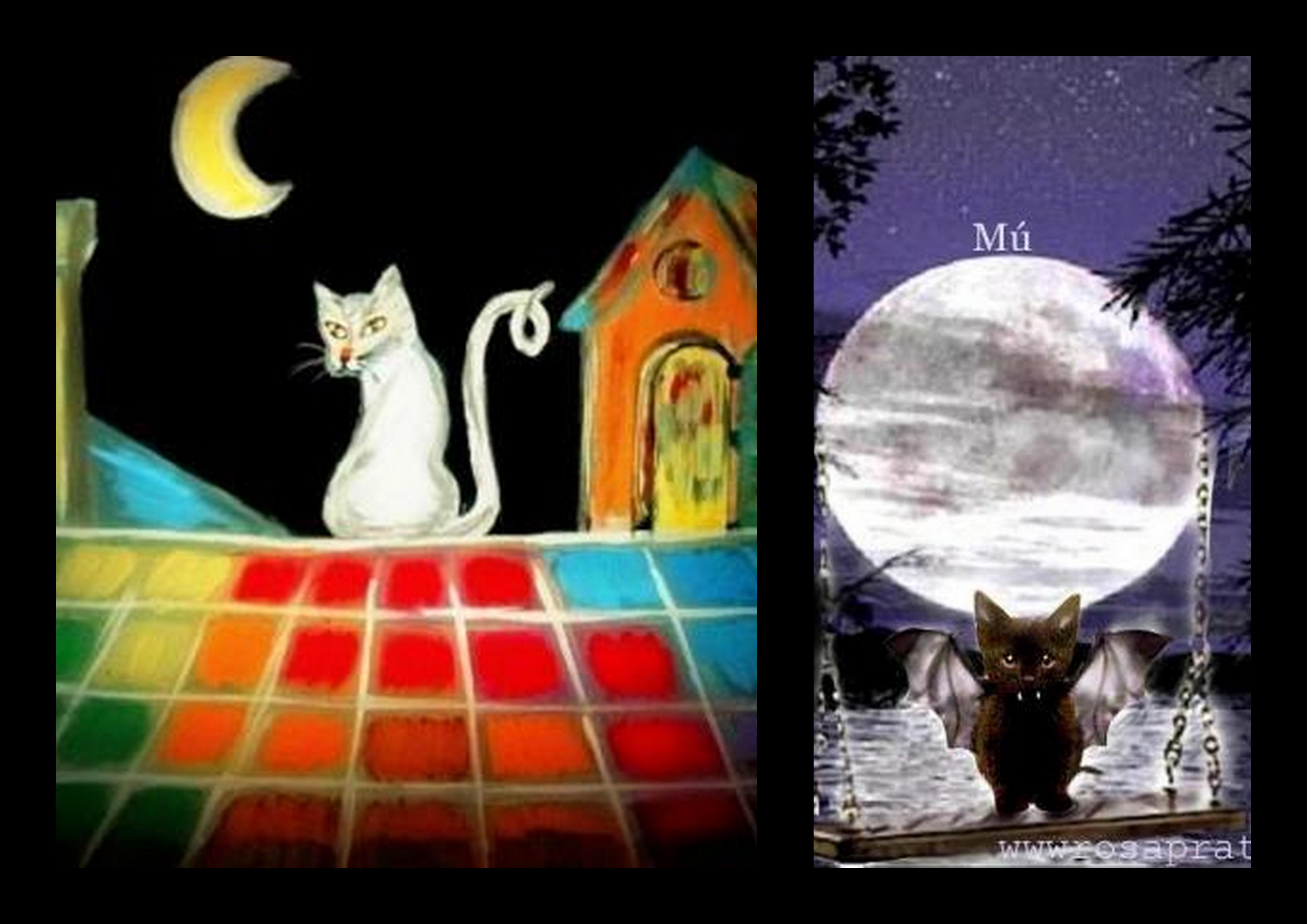 Mú y gato kanalla. Collage.