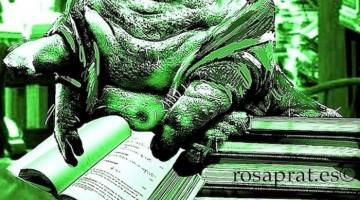De cómo me picó el gusano de la literatura. Diseño de Rosa Prat.