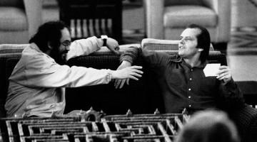 El Resplandor. Treinta y cinco años de la película de Kubrick. Stanley Kubrick y Jack Nicholson en el set de The Shining,