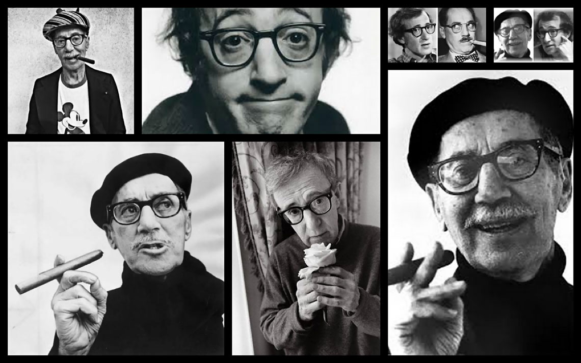 Groucho Marx y Woody Allen. Ídolos, esos seres terrenales. Collage de MoonMagazine.