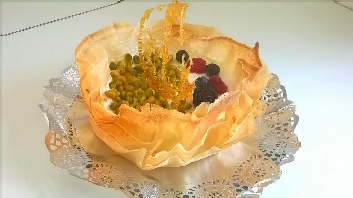 Tarta de queso que colmará tus deseos más golosos. Receta de Iñaki Rodríguez.