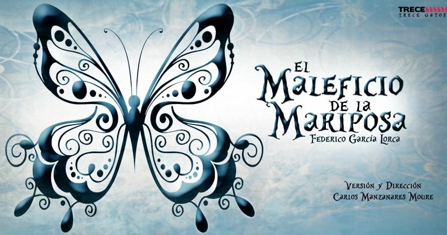 Cartel de El maleficio de la mariposa, versión de Trece Gatos