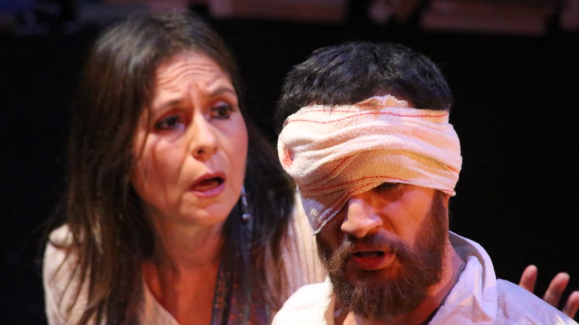 Marissa Amado y Diego Jimeno en No son molinos. Foto: Paz Robledo